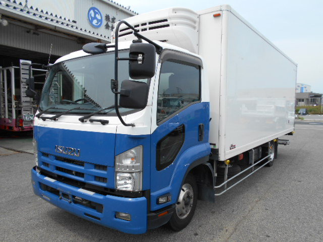 いすゞ ワイド冷凍車 格納パワーゲート付 エアサス TKG-FRR90T2 H25年