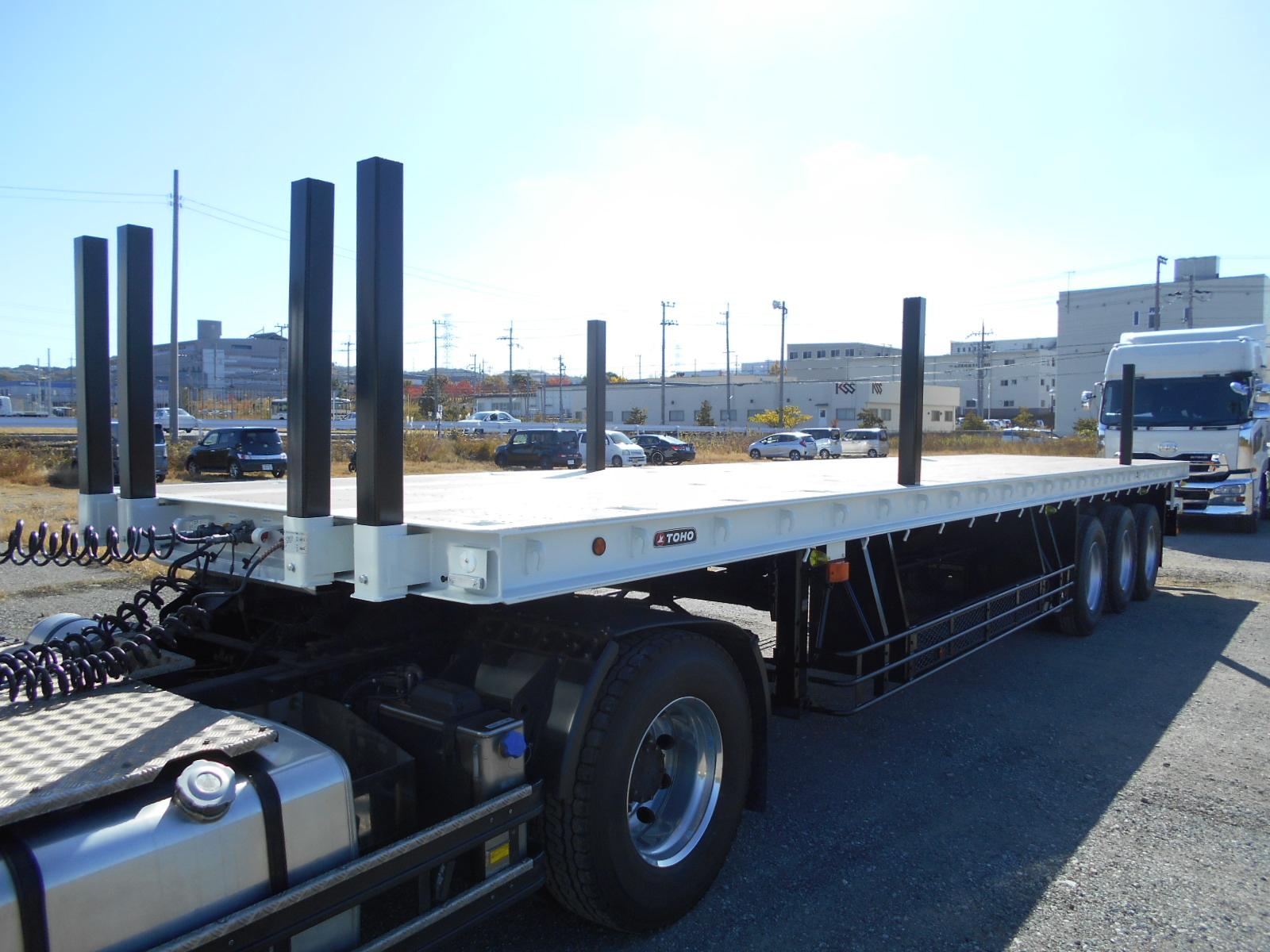 東邦 3軸まな板トレーラー 予備検付 未登録未使用車