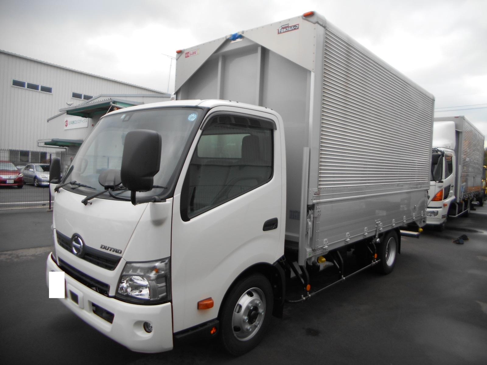 日野 アルミウイング ワイド/ロング 積載3.5t 車検付 未使用車 H31年式